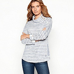 Mantaray - Blue textured stripe sweatshirt
