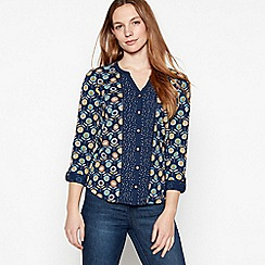 Mantaray - Navy floral lollipop print cotton top