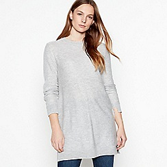 Mantaray - Grey knitted button back tunic top
