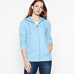 Mantaray - Blue flecked zip through hoodie