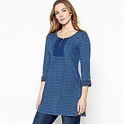 Mantaray - Dark blue stripe print tunic top