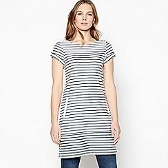 Mantaray - Multicoloured stripe print colour block hem tunic dress