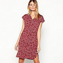 Mantaray - Plum Carousel Print Knee Length Dress