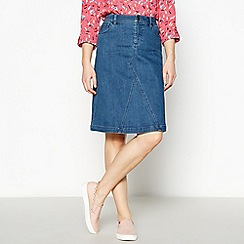 Mantaray - Blue denim mini skirt