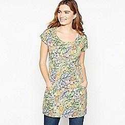 Mantaray - Green Floral Print Tunic Top