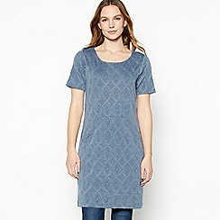Mantaray - Blue diamond jacquard tunic dress