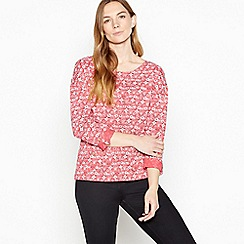 Mantaray - Pink 'Astro' Print Cotton Top