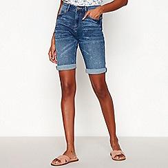 Mantaray - Blue Mid Wash 'Bermuda' Shorts