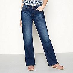 Mantaray - Blue dark wash 'St Ives' regular fit bootcut jeans