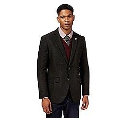 Hammond & Co. by Patrick Grant - Dark green twill wool blend jacket