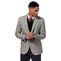 055010120963: Grey Prince of Wales checked wool blend jacket