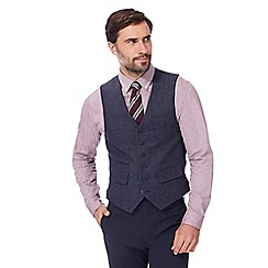 Hammond & Co. by Patrick Grant - Big and tall blue checked wool blend waistcoat
