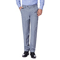 Hammond & Co. by Patrick Grant - Big and tall light blue wool blend pinstripe trousers