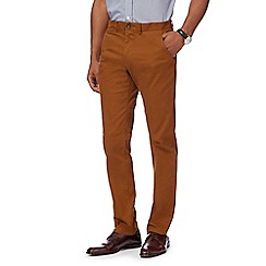 055010150369: Dark tan twill chinos
