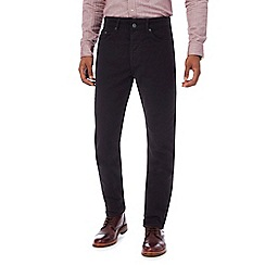 Hammond & Co. by Patrick Grant - Black moleskin tailored fit trousers