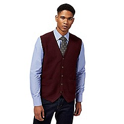 Hammond & Co. by Patrick Grant - Wine red lambswool rich tank top