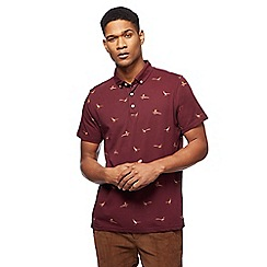 Hammond & Co. by Patrick Grant - Big and tall dark red pheasant print polo shirt