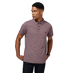 Hammond & Co. by Patrick Grant - Red textured herringbone polo shirt