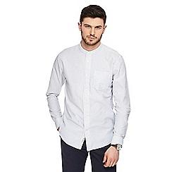 Hammond & Co. by Patrick Grant - White dobby grandad collar shirt