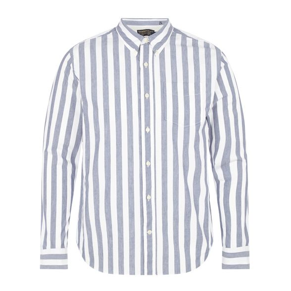 and Grant amp; by tall Big Hammond blue striped Patrick shirt Co and white qgzwMIFx