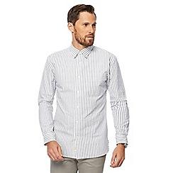 Hammond & Co. by Patrick Grant - Grey striped seersucker shirt