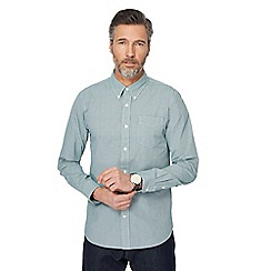 Hammond & Co. by Patrick Grant - Green mini gingham print shirt