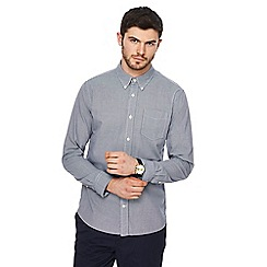 Hammond & Co. by Patrick Grant - Big and tall navy mini gingham print shirt