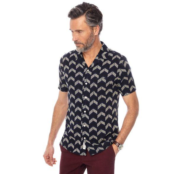 tall Hammond and bowling Big Patrick print Grant Co by shirt amp; navy chevron 0wqYg0