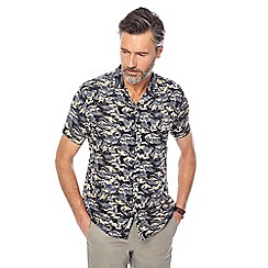 Hammond & Co. by Patrick Grant - Black wave print shirt