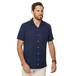 Hammond & Co. by Patrick Grant - Navy style short sleeve regular fit shirt