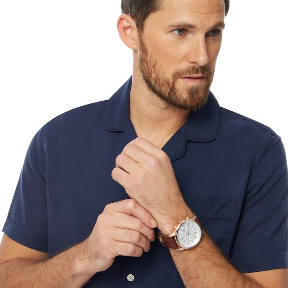 navy shirt Patrick by Big short regular tall and sleeve Hammond fit style Co amp; bowling Grant fwx8Aq