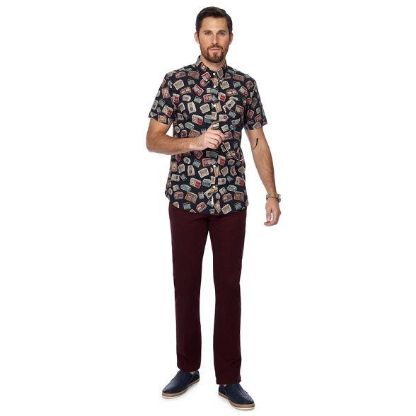 print and fit Co radio by down tall Hammond shirt coloured Grant sleeve short Big amp; regular collar button Patrick multi qPn5FC
