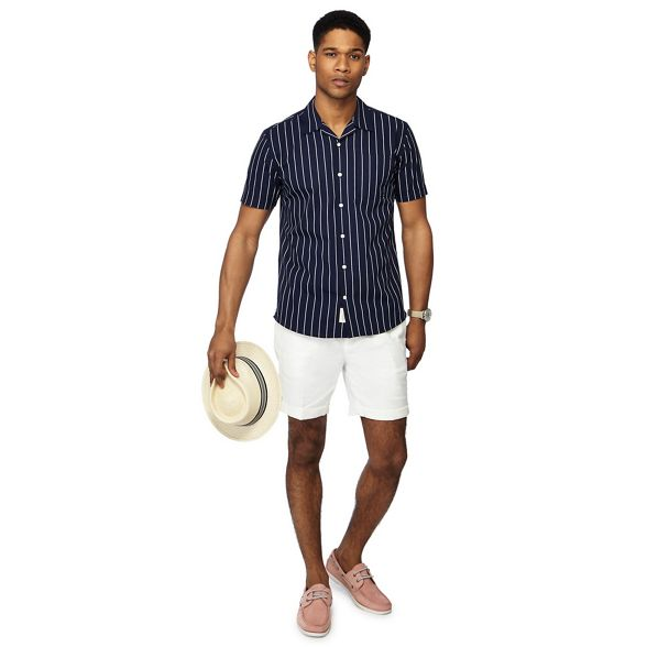 by bowling Big navy Co Grant striped short shirt sleeve and amp; tall Hammond Patrick x4FaEX7