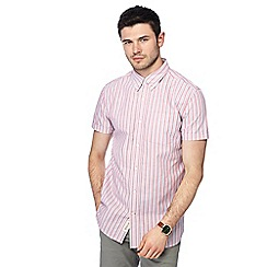 Hammond & Co. by Patrick Grant - Pink striped button down collar short sleeve Oxford shirt