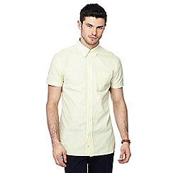 Hammond & Co. by Patrick Grant - Yellow striped button down collar short sleeve Oxford shirt