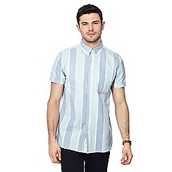 Hammond & Co. by Patrick Grant - Big and tall multi-coloured striped button down collar short sleeve regular fit shirt
