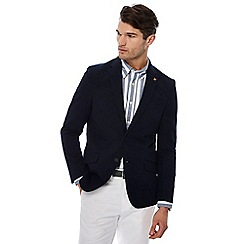 Hammond & Co. by Patrick Grant - Big and tall navy seersucker textured blazer