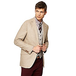 Hammond & Co. by Patrick Grant - Natural textured sharkskin linen blend blazer