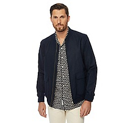 Hammond & Co. by Patrick Grant - Navy linen blend 'Tropez' regular fit bomber jacket