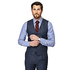 Hammond & Co. by Patrick Grant - Big and tall blue pow check waistcoat