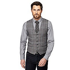 Hammond & Co. by Patrick Grant - Big and tall grey monochrome pow check waistcoat
