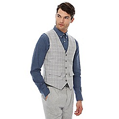 Hammond & Co. by Patrick Grant - Grey linen blend pow checked waistcoat