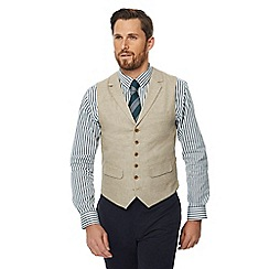Hammond & Co. by Patrick Grant - Big and tall natural linen blend sleeveless regular waistcoat