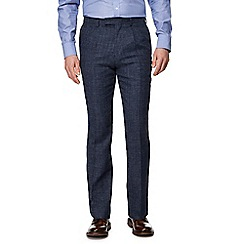 Hammond & Co. by Patrick Grant - Big and tall blue pow check trousers