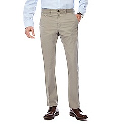 Hammond & Co. by Patrick Grant - Grey twill tailored fit chinos
