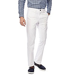Hammond & Co. by Patrick Grant - White twill tailored fit chinos