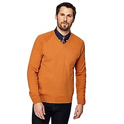 Hammond & Co. by Patrick Grant - Big and tall orange v-neck jumper