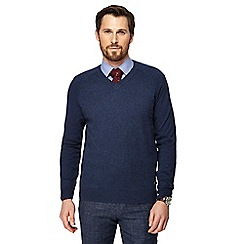 Hammond & Co. by Patrick Grant - Big and tall navy v-neck jumper