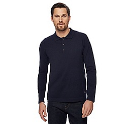 Hammond & Co. by Patrick Grant - Navy long sleeve polo shirt