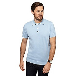 Hammond & Co. by Patrick Grant - Light blue knitted polo shirt